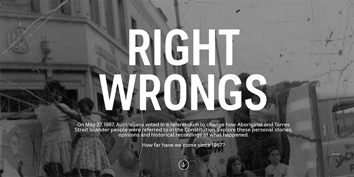 Right Wrongs homepage