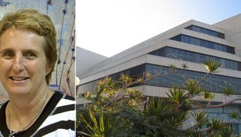 Photos: Margaret Allen and the exterior of the State Library of WA